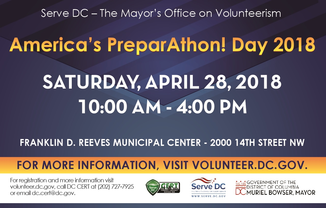 America's PrepareAthon! Day--Volunteer Reception Center Training and Functional Exercise