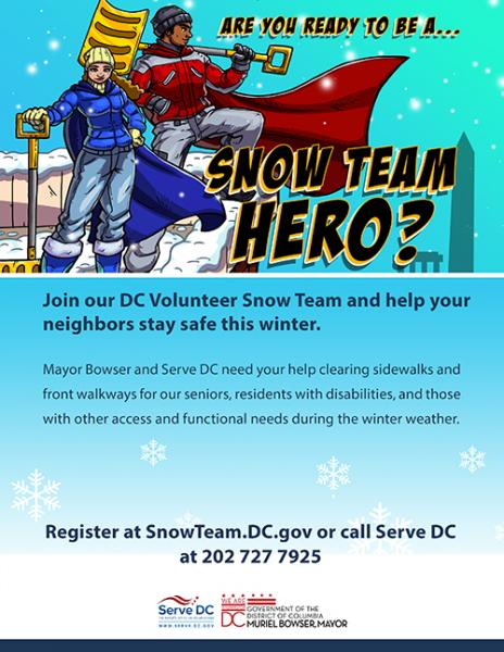 Mayor Bowser Needs You to Serve on the DC Volunteer Snow Team