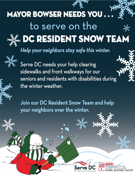 Mayor Bowser Needs You to Serve on the DC Resident Snow Team