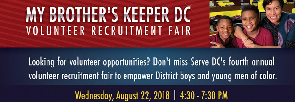 Image for My Brother's Keeper DC Volunteer Recruitment Fair