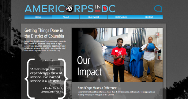 AmeriCorps in DC site