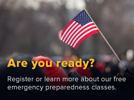 Register for emergency preparedness classes