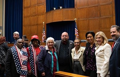 Mayor Bowser, Eleanor Holmes Norton and others on the day of the vote