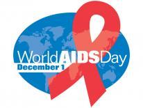 World AIDS day, December 1 logo